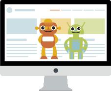 Ordenador con robots buscadores